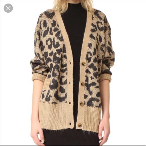 206d50fee8 Wildfox leopard cardigan. M 5bd60bb5baebf6125cc41e34. Other Sweaters ...